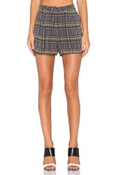Lucca Couture Plaid Short Gray