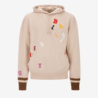 Bally 'S Wool Embroidered Hoodie In Light Beige