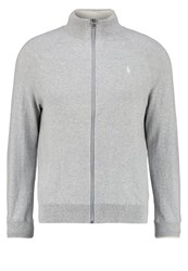 Polo Ralph Lauren Cardigan Rugby Heather Light Grey