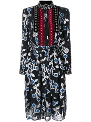 Dodo Bar Or Floral Print Dress Polyester Viscose Metallic Fibre Black