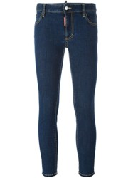 Dsquared2 'Twiggy' Medium Waist Jeans Blue