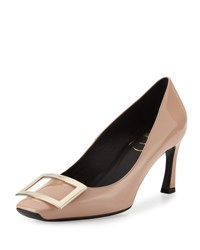 Roger Vivier Trompette Patent Leather Pump Nude