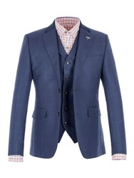 Gibson Men's Navy Pick And Pick Check Jacket Navy