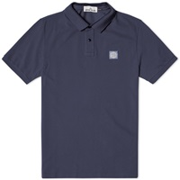 Stone Island Regular Fit Polo Washed Blue