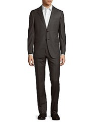Valentino Classic Fit Two Piece Wool Suit Medium Brown