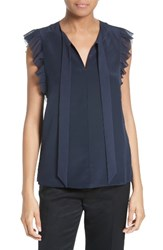 Ted Baker Women's London Eene Bow Neck Silk Top