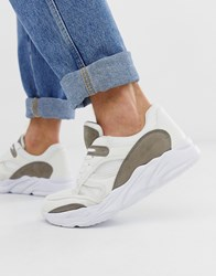 New Look Chunky Sole Dad Trainer In White