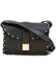 Furla Scalloped Detail Crossbody Bag Black