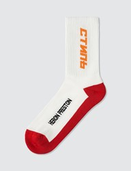 Heron Preston Ctnmb Long Socks Red