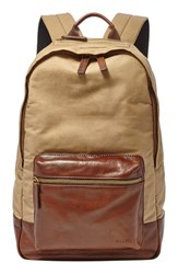 Men's Fossil 'Estate' Backpack Beige Khaki