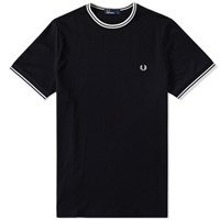 Fred Perry Twin Tipped Tee Black