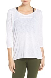 Zella Women's 'Cat' Cowl Open Back Tee White