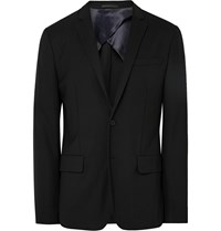 Acne Studios Black Jack Travel Slim Fit Wool Piqua Blazer