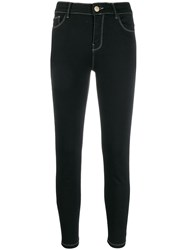 Twin Set Cropped Jeans Black