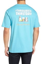 Tommy Bahama Men's Big And Tall Throw Back Thirstday Graphic T Shirt Maui Blue