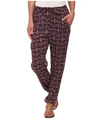 Roxy Sunday Noon Pant Grape Juice Mirage Marking Women's Casual Pants Purple