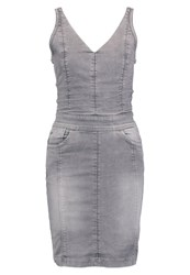 G Star Gstar Lynn Slim Dress Denim Dress Lt Aged Grey Denim