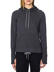 Betsey Johnson Crop Hoodie Charcoal