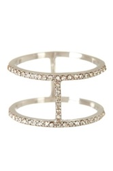 Beyond Rings Double Pave Cz Band Ring Metallic