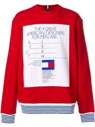 Tommy Hilfiger George Lois Ad Sweatshirt Red