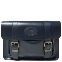 Trickers Tricker's Twin Buckle Satchel Navy Calf