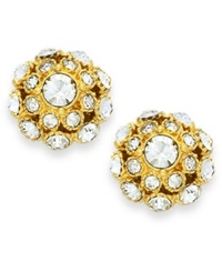 Kate Spade New York Earrings 12K Gold Plated Crystal Ball Stud Earrings