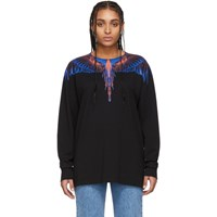 Marcelo Burlon County Of Milan Black And Pink Wings Long Sleeve T Shirt