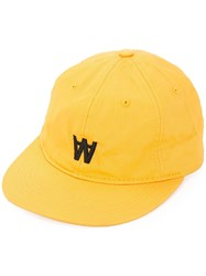 Wood Wood Logo Cap Yellow And Orange