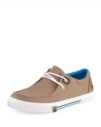 Original Penguin Clifton Canvas Lace Up Sneaker Brown