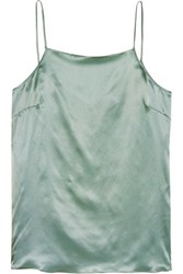 Iris And Ink Silk Satin Camisole Light Green