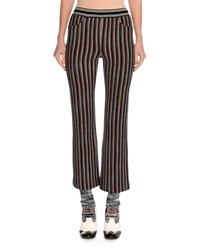 Missoni Striped Knit Ankle Pants Red