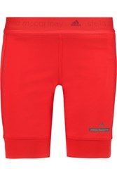 Adidas By Stella Mccartney Climaheat Stretch Jersey Shorts Red