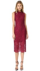 Shoshanna Mirian Lace Dress Garnet Jet