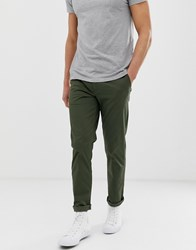Selected Homme Straight Fit Chino Green