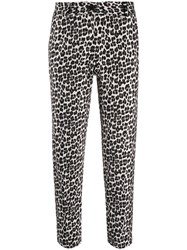 Twin Set Leopard Printed Cropped Trousers 60