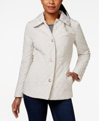 Anne Klein Quilted Snap Front Jacket