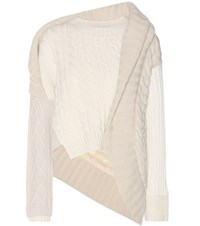 Burberry Cashmere And Wool Cable Knit Sweater White