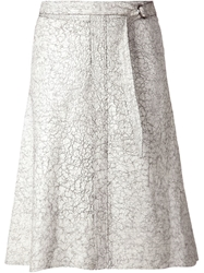 Schumacher Crackled Effect Skirt White
