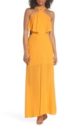 Ali And Jay Beach Club Afternoons Halter Maxi Dress Banana