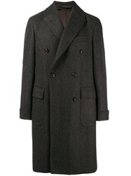 Caruso Double Breasted Coat Grey
