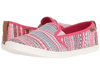 Sanuk Brook Tx Raspberry Lanai Blanket Women's Slip On Shoes Multi
