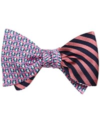 Brooks Brothers Men's Lady Bug And Stripe Reversible To Tie Bow Tie Red