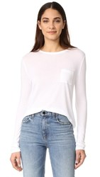 Alexander Wang T By Classic Cropped Long Sleeve Tee White