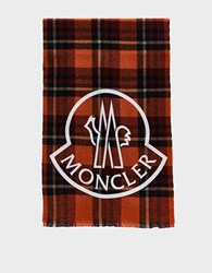 Moncler Plaid Scarf Wool Multi Red