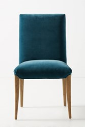 Anthropologie Tia Dining Chair Blue Green