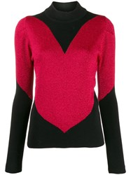 Gcds Colour Block Fitted Top Red