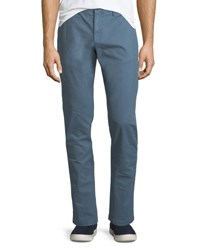 Penguin P55 Slim Fit Garment Dye Stretch Chino Pants Blue