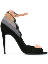 Pierre Hardy 'Roxy' Peep Toe Sandals Black