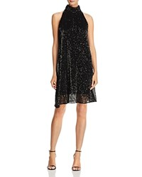 Laundry By Shelli Segal High Neck Sequin Dress Black