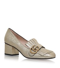 Gucci Marmont Fringed Loafers Female Gold